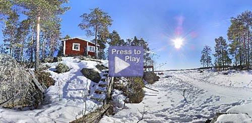 Panorama ifrån båtplatsen på vintern